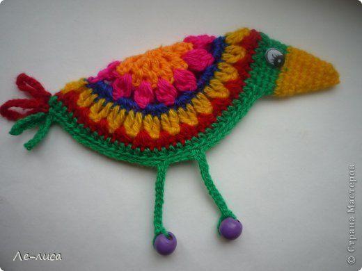 Мастер-класс Вязание крючком: Птицы счастья в стиле НАИВ Пряжа. Фото 1