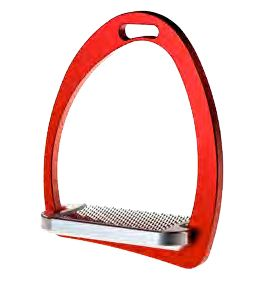 'Cool' Stirrups by Equi  Weight: 470 grams Material: Aluminium ANTICORODAL Thanks to its innovative design, COOL effectively contrasts the natural stirrup rotation caused by the stirrup leather. The 3° inclined footboard helps this model guarantee optimum stability.   The special anti-slip always guarantees a good grip because the teeth have been rotated by 45°.  Available from http://justriding.com