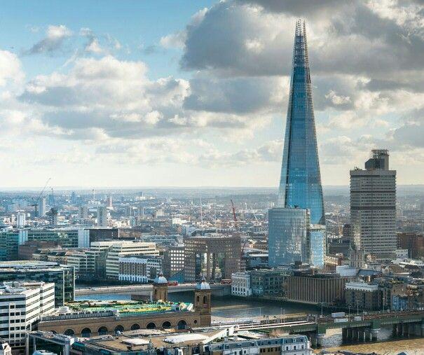 London's tallest landmark The Shard - at 1016 feet - completed 2012