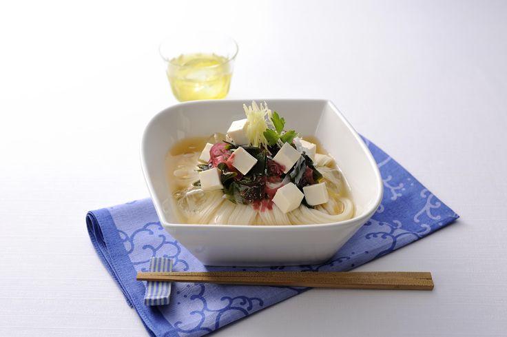 海藻サラダと豆腐の和風コンソーメン (レシピNo.2513)調理時間はなんと8分!時間がない時に最適♪