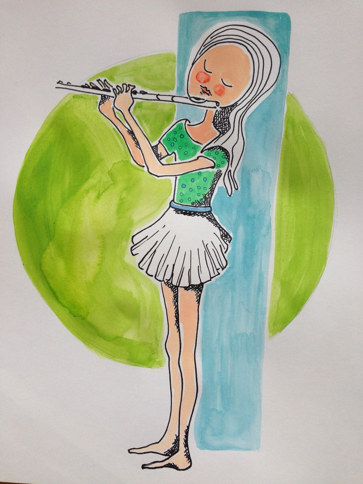 Illustratie muziekschool, Esther Eggink