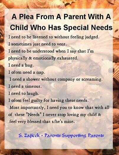 My wishes...  A Plea From A Parent With A Child Who Has Special Needs