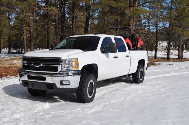 Well I'm new to this forum so I figured some pics would be good..  Bought my 2011 LML last october, my 3rd brand new Chevy and first Diesel, I absoulutly love it, leveled with Icon UCA's and extented Icon 2.5 shocks with 2.0 shocks in the rear and airlift bags, Walker Evans wheels and BFG KM2's.