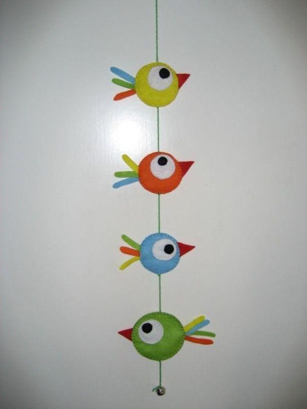 vrolijke vilten vogels by corinne