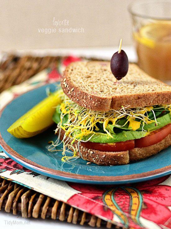 favorite veggie sandwich: Healthy Meals, Favorite Veggies, Loss Recipes, Veggies Sandwiches, Turkey Sandwiches, Weights Loss Meals, Easy Recipes, Healthy Food Recipes, Healthy Recipes