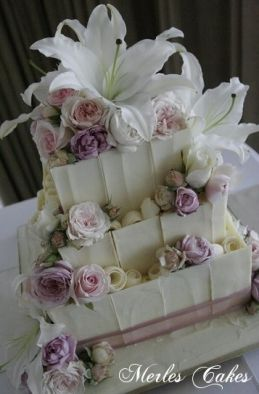 Chocolate Panels - Sweet Designs by Claire #wedding #cake #love #specialoccasion #perfectday #weddingcake #elegant