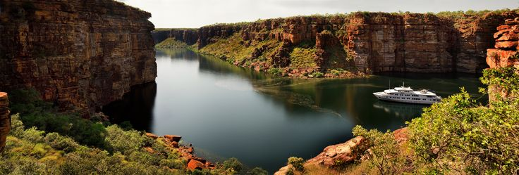 Another stunning Kimberley gorge, TRUE NORTH is purpose built to access river systems bigger ships cannot!  #luxurycruises #luxurytravel #adventure #boats #northstarcruises #thekimberley