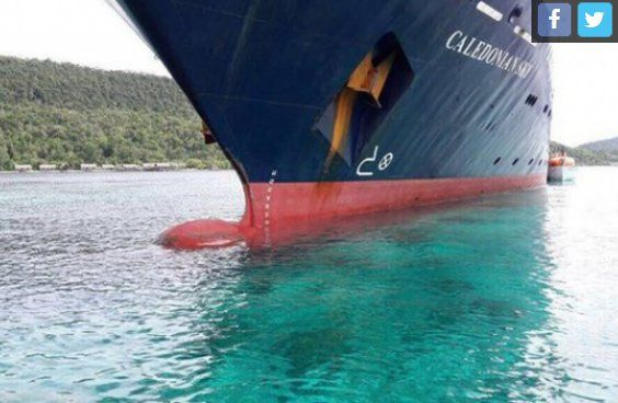 Kapal Pesiar Inggris, Caledonian Sky Hancurkan Terumbu Karang Raja Ampat