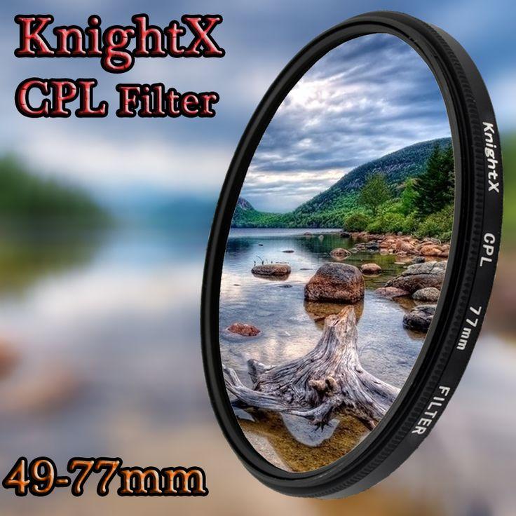 Knightx 49mm 52mm 55mm 58mm 67mm 77mm cpl filtro para canon accesorios de la lente lentes de cámara d5100 d3300 dslr nikon d5300 d5500 cpl