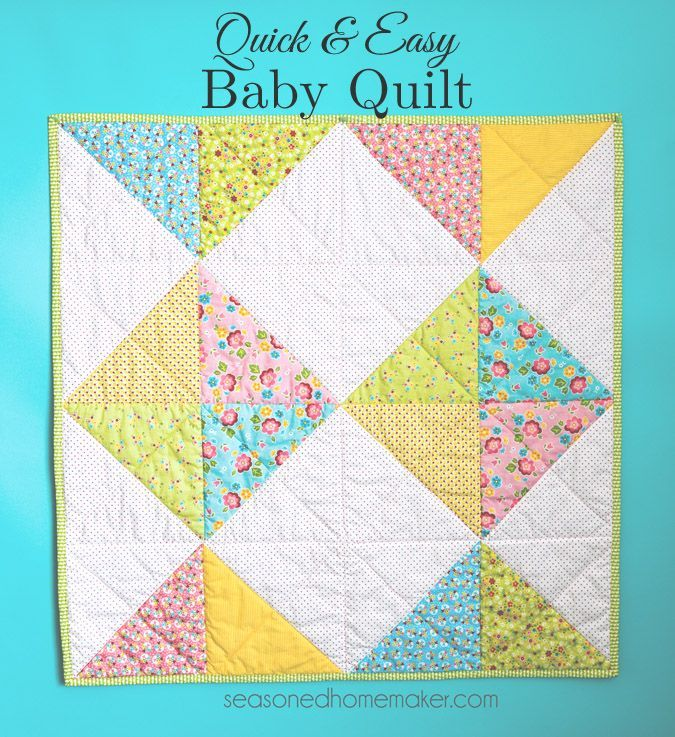 Everyone needs a simple baby blanket or baby quilt pattern in their arsenal  Find one that can be easily assembled and quilted and you  ll never wonder what to gift to give at the next baby shower you attend