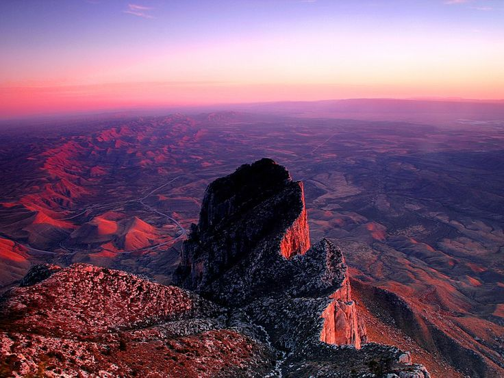 """""""Climb the five-mile trail up Guadalupe Peak to the highest point in Texas—at night you'll see more than 11,000 stars. Just watch out for scorpions!"""""""