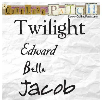 Free Twilight Fonts- Edward, Twilight, Bella and Jacob