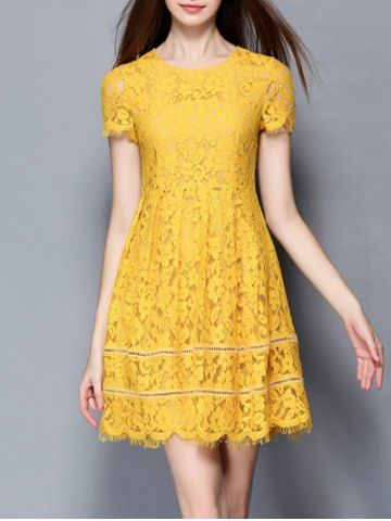 SHARE & Get it FREE | Chic Women's Yellow High Waist Flounced Lace DressFor Fashion Lovers only:80,000+ Items • New Arrivals Daily • FREE SHIPPING Affordable Casual to Chic for Every Occasion Join RoseGal: Get YOUR $50 NOW!