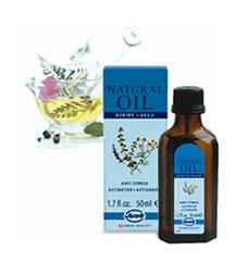 Love this stuff!  Anti Stress natural oil by SwissJust - A specific and balanced blend of 15 natural essential oils, synergistically combined to promote feelings of relaxation and well-being that help cope with high moments of stress. Softly rubbed behind the ears and nape of neck or added into a relaxing massage, sauna, bath or aromatherapy burner allows you to enjoy its wonderful calming vapors.
