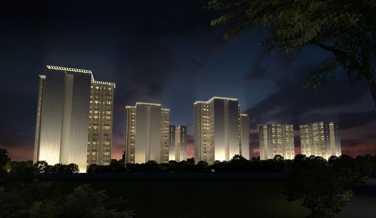 Vatika One Express City is a 2-4 BHK apartment in sector 88B with 2 Master bedrooms in 3BHK and a Servant quarter in 2BH