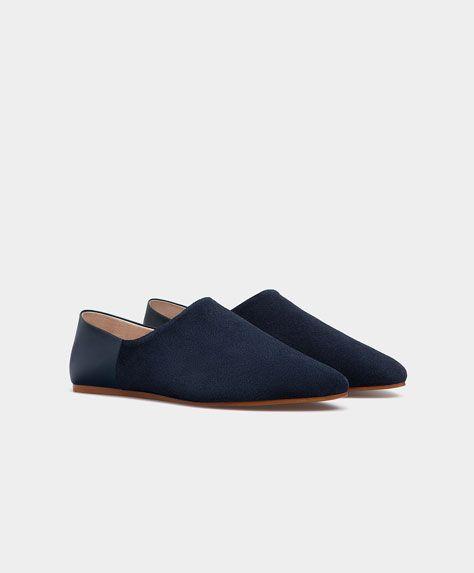 Modne buty bez pięty z zamszu - Najczęściej Szukane - Modowe trendy AW 2016 dla kobiet na stronie Oysho: bielizna, odzież sportowa, motywy etniczne i cygańskie, buty, dodatki, akcesoria i stroje kąpielowe.