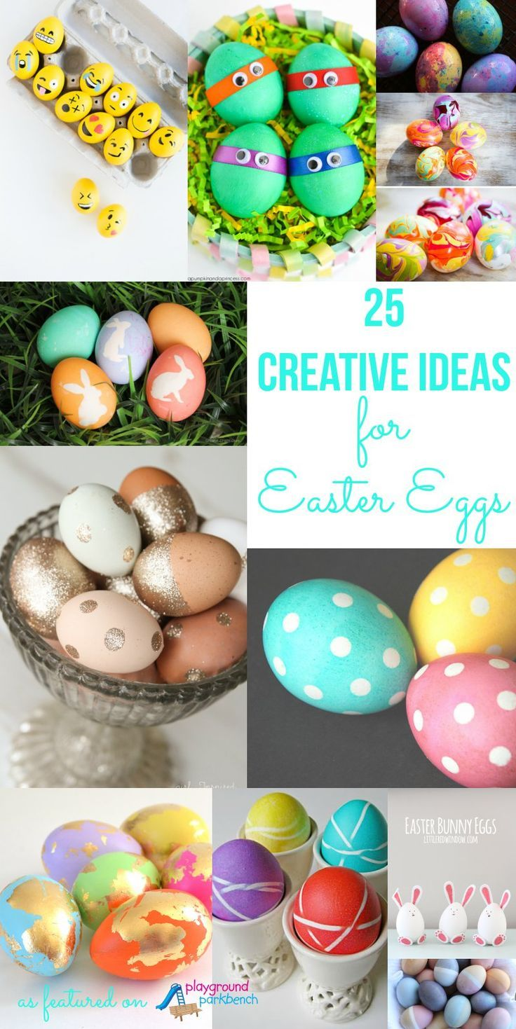 Decorating Easter eggs this holiday? These 25 creative ideas, techniques and processes will leave you with Easter eggs that look like true works of art (and they're easy too!)   Easter   Easter eggs   Crafts for Kids   Holiday  