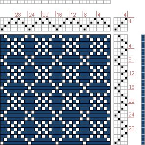 Hand Weaving Draft: Four Shaft Waffle, , 4S, 4T - Handweaving.net Hand Weaving and Draft Archive