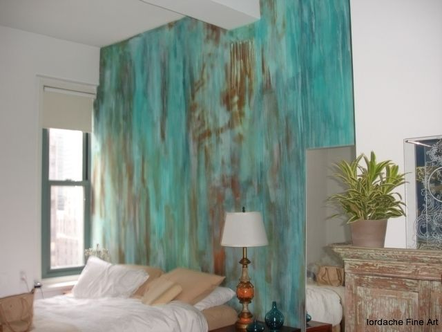 Gorgeous Patina Wall Totally Want To Do This Mi Casa