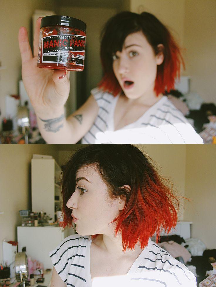 lovelydyedlocks:Manic Panic Electric Lava.Watch the video here.http://olibomb.tumblr.com/