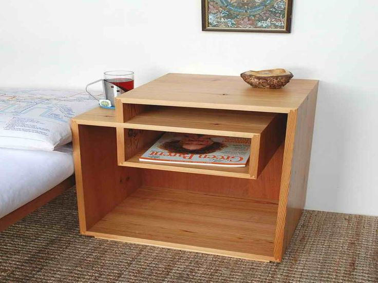 lovely wooden bedside table ideas 9