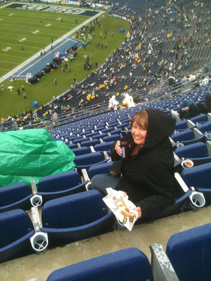 Only when I go to San Diego is it colder here than at home. 45 degrees and rain in San Diego. Packer game
