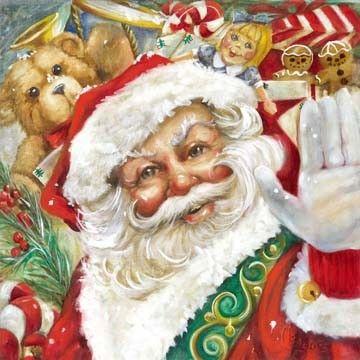 Macy's Santa by Celia Meadors. www.celiameadorsart.com