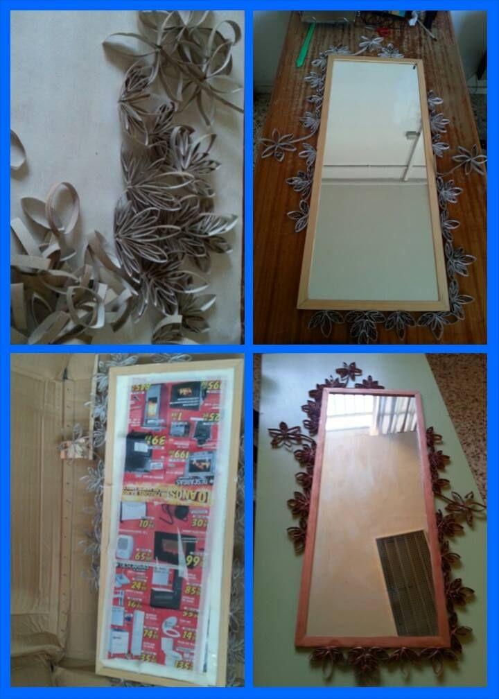 Pasos para la de decoración de espejo
