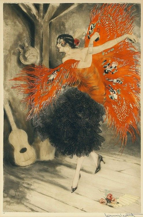 Spanish Dancer, 1929 by Louis Icart (French 1880-1950)