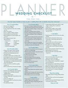 wedding planning checklist printable - Bing Images