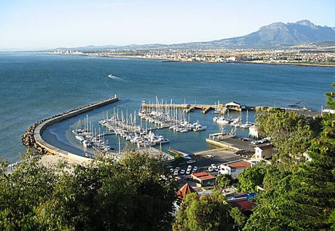 Gordon's Bay, about 50 km from Cape Town.