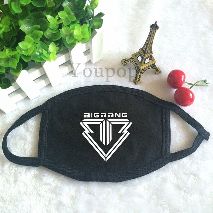 BIGBANG VIP Logo Boyband Kpop Trendy Fashion Anti-Dust Face Mask #BIGBANG #VIP #Logo #Boyband #Kpop #Trendy #Fashion #Anti-Dust #Face #Mask