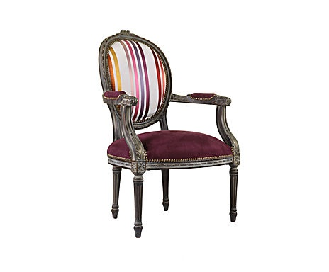fauteuil m daillon louis xvi h tre et tissu canovas. Black Bedroom Furniture Sets. Home Design Ideas