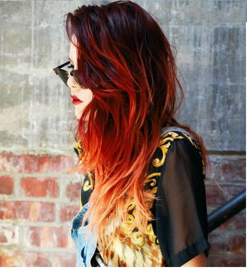 Best 25 fire ombre hair ideas on pinterest fire hair colourful 30 incredible ideas for red ombre hair time to get wild urmus Gallery