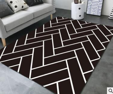 Large European Geometric Black White Carpet Area Rug For Bedroom Livingroom Kitchen Baths Mat Door Mat An Black And White Carpet White Carpet Carpets Area Rugs