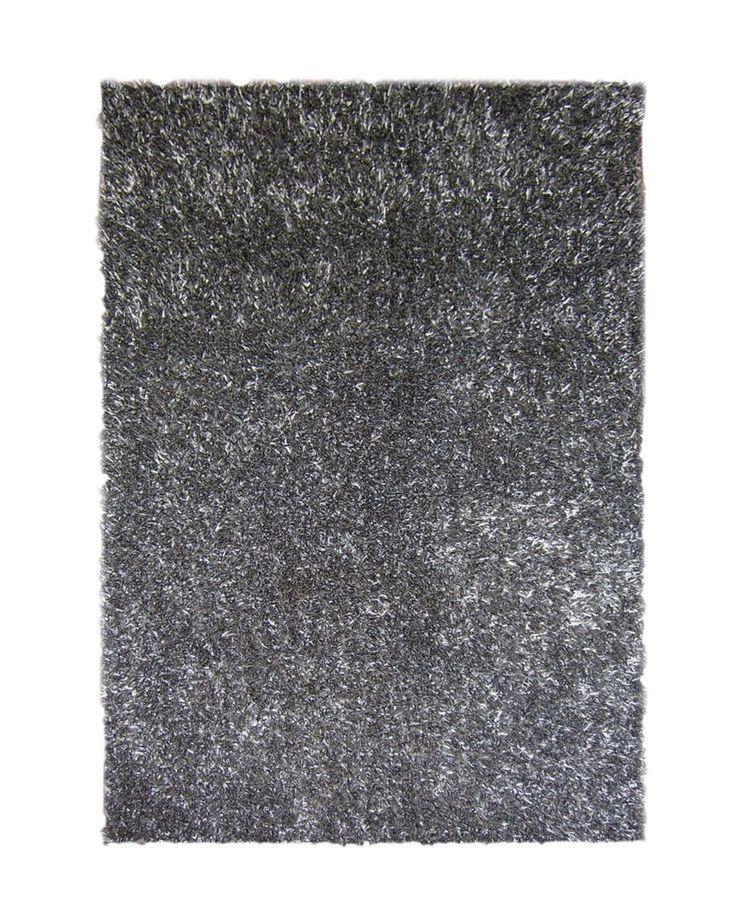 Charcoal Ribbon Shag Area Rug 6 Feet x 9 Feet