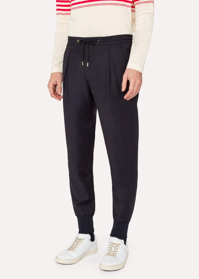 37b96490 Paul Smith Men's Navy Wool Casual Pants   casual pant for men or ...