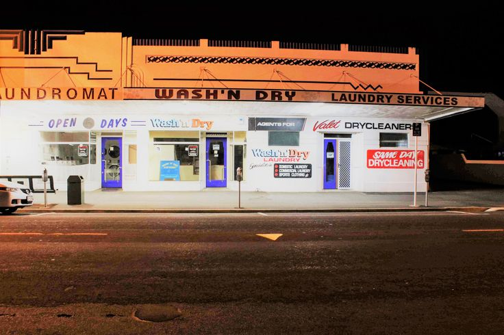 laundromat This is a photo I took when I was out with my Cannon doing a bit of night shooting. Sometimes at night things appear to glow and the colours can really come alive.  #stusroadtrips #photo #photooftheday #photograph #newzealand #waikato #shops #night #dark #street #laundromat #nightshot #lights #signs #city #buildings #empty #shops #shut #glow #light #nightscape
