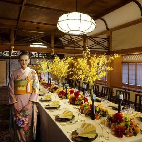 和装 japanese kimono japanese style wedding party decor THE KIKUSUIRO NARA PARK(菊水楼)