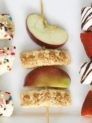 Kiddie Kabobs: Apple-PB Crisp (via Parents.com)