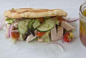 Greek Turkey Pita Recipe - Oprah.com