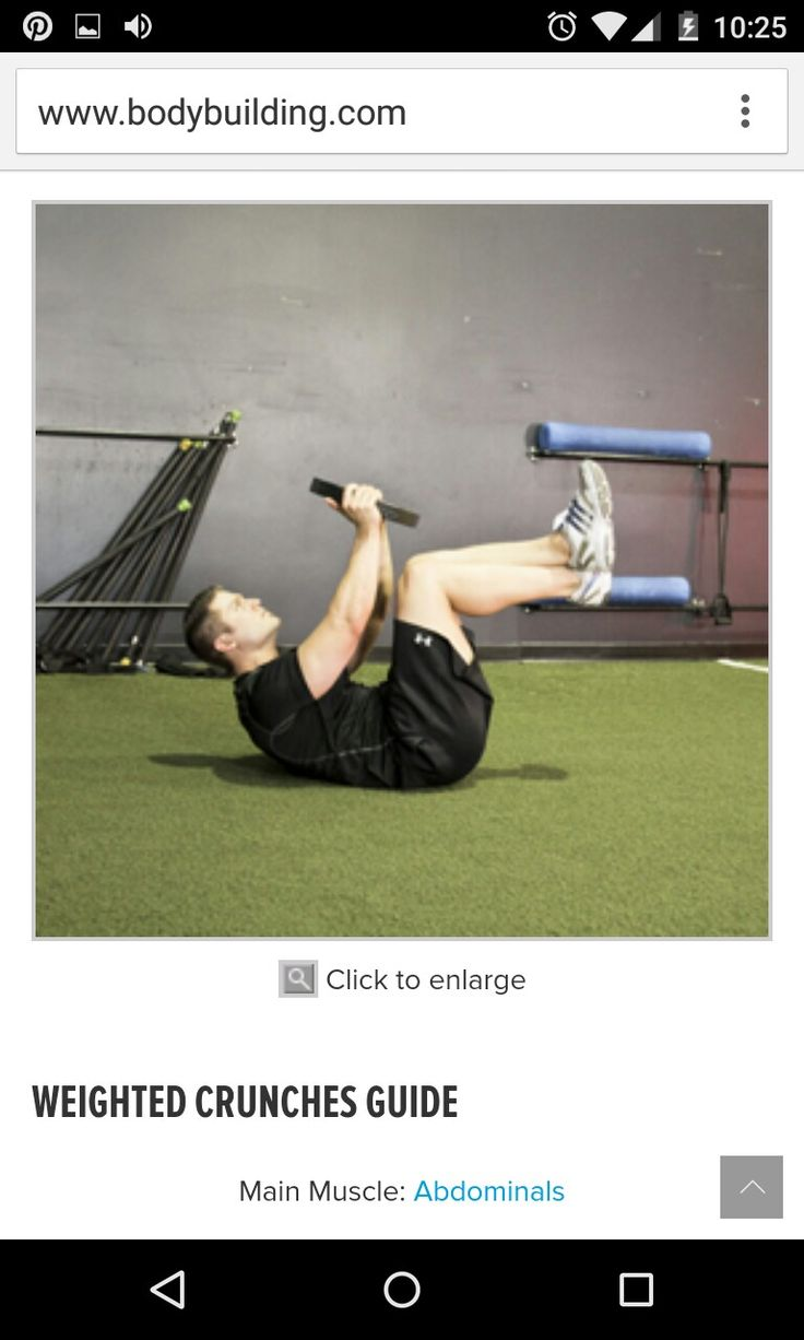 38 best Crunches images on Pinterest | Work outs, Exercise workouts ...