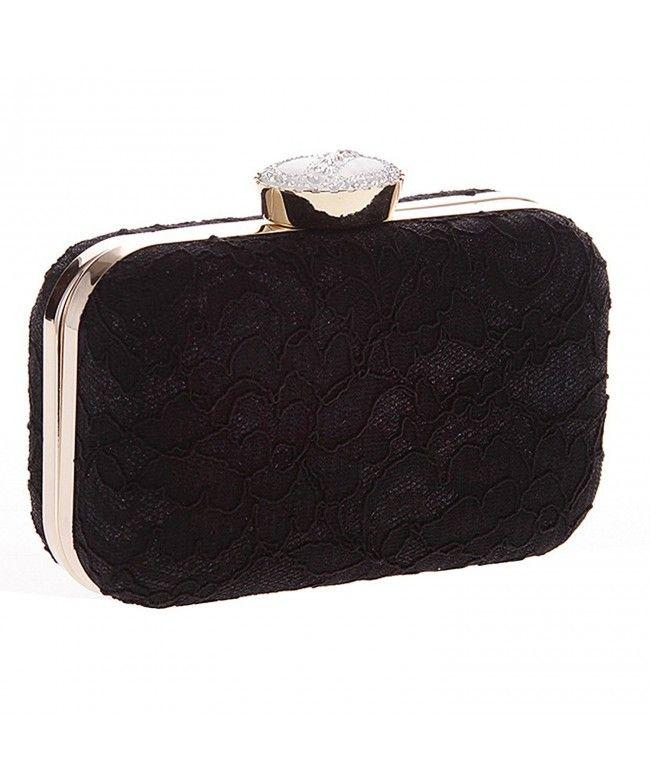 Womens Handbags Satin Hard Case Box Clutch Evening Prom Party Wedding New