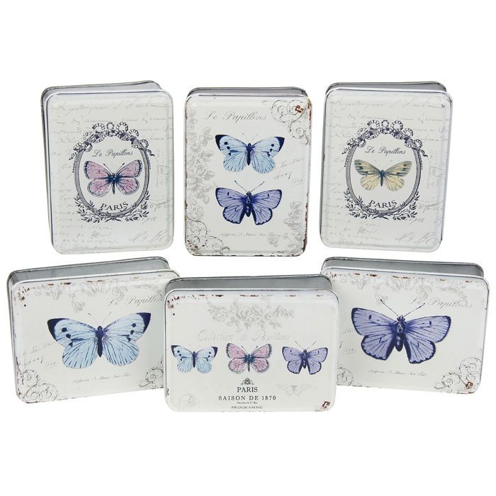 """Le Papillon"" Decorative Tin Jewellery Box **6 Designs!** #makeup #tin #present #gift"