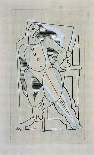 Harlequin, 1920 Juan Gris