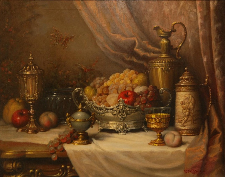 P. DUFOUR ORIGINAL OIL/CANVAS DEPICTING STILL LIFE