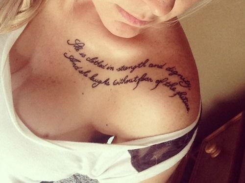 30 Collar Bone Tattoos Idea for Women and Girls (11) love the placement of this one