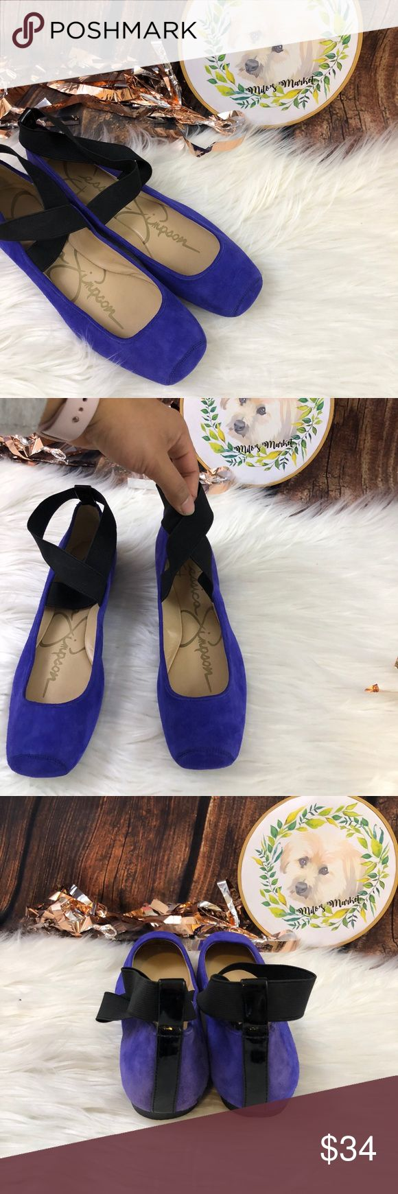 Jessica Simpson | 'Mandalaye' violet suede flat Jessica Simpson | 'Mandalaye' violet elastic suede ballet flat Square toe Size 8  Condition: New without tag  Feel free to make an offer, or bundle your likes and I'll send you an offer with an exclusive discount!! Jessica Simpson Shoes Flats & Loafers