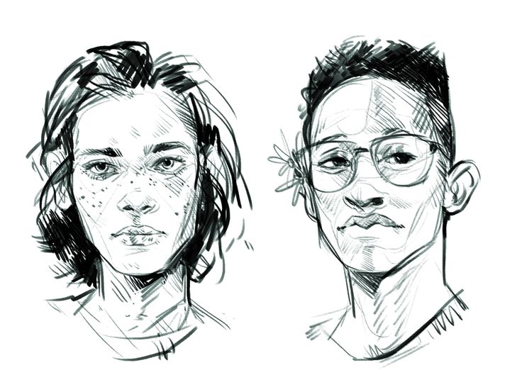 bought some new brushes yesterday so played w some twenty minute portraits of people i found in my reference tag [x] [x]