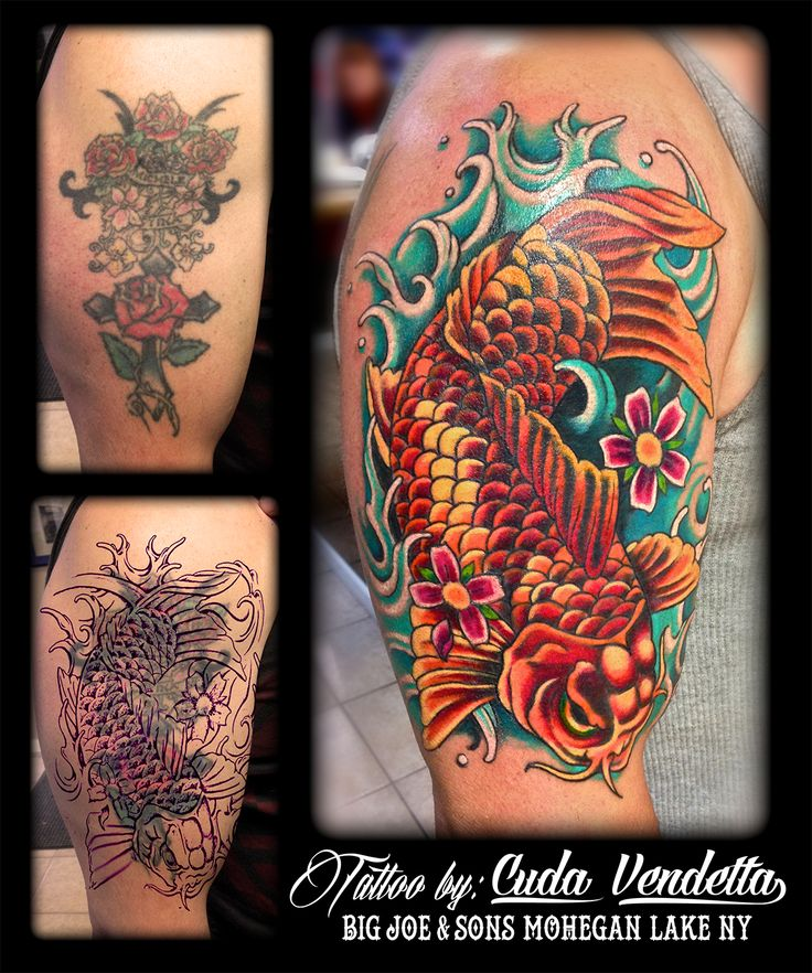 7 best tattoo coverups re color work images on pinterest for Big tattoo cover up